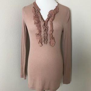 3/$20 Moda International Ribbed Long Sleeve Top